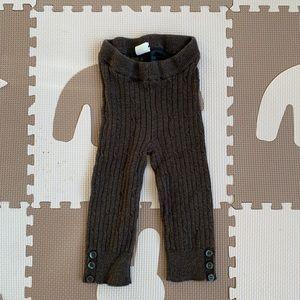H&M Infant Girls Brown Ribbed Cotton Leggings 4-6m